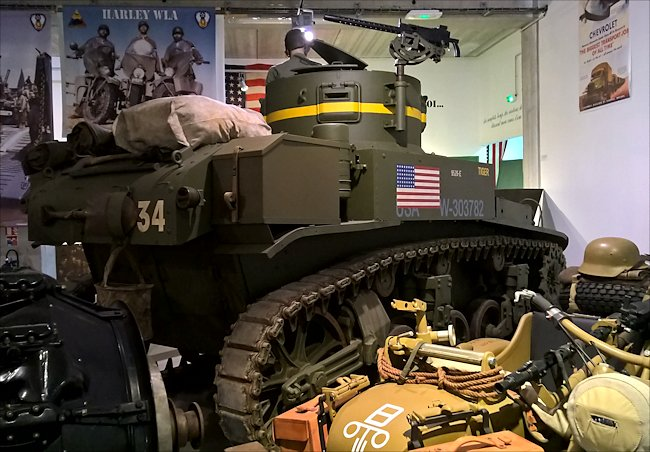 M3A1 Stuart Light tank Normandy Tank Museum