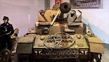 Surviving Battle of the D-Day 1944 Panzer IV tank in Normandy Tank Museum Catz France