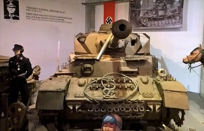Preserved Panzer IV Ausf H Tank used during D-Day