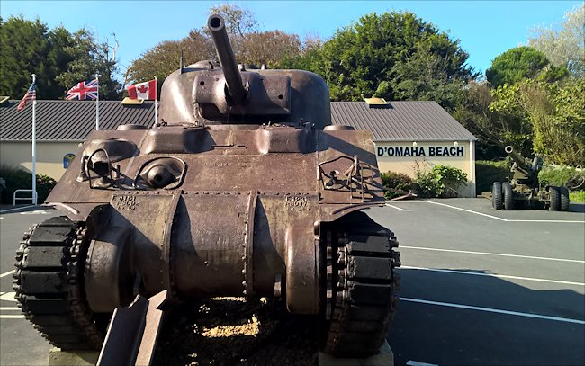 Preserved M4A4T Sherman Tank used during the 6th June 1944 landings