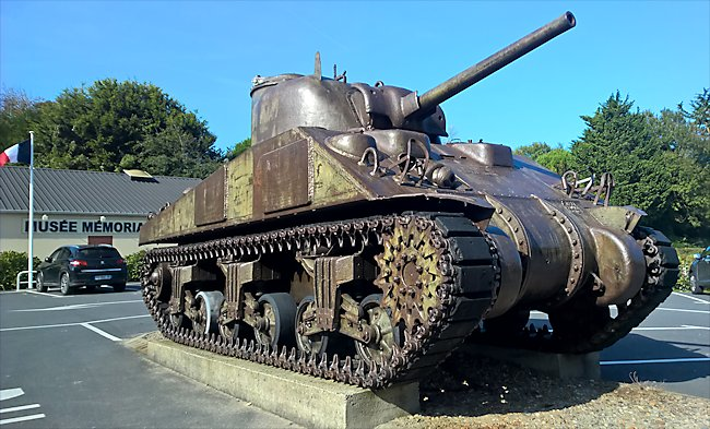 Surviving M4A4T ShermanTank used during D-Day