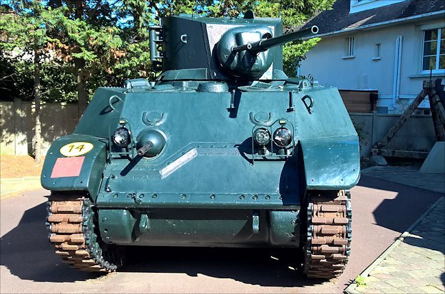 Surviving Stuart M3A3 tank used in Normandy during D-Day