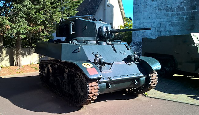 Stuart M3A3 tanks were used in Normandy during D-Day