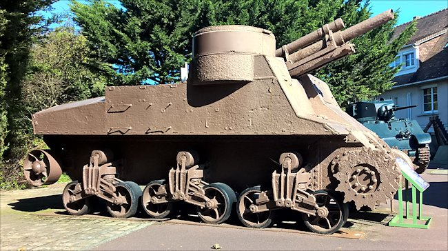 Surviving M7 Priest Selp Propelled 105mm gun used in Normandy during D-Day
