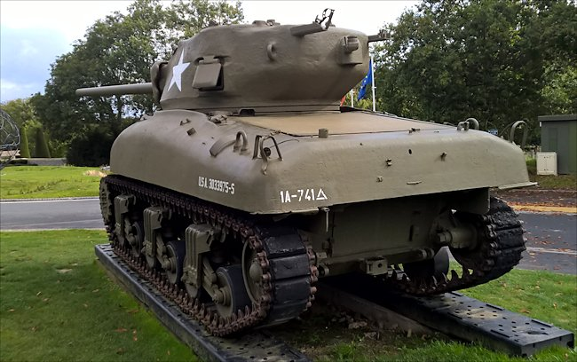M4A1 Sherman Tank Overlord Museum Colleville-sur-Mer Normandy 1944 D-Day