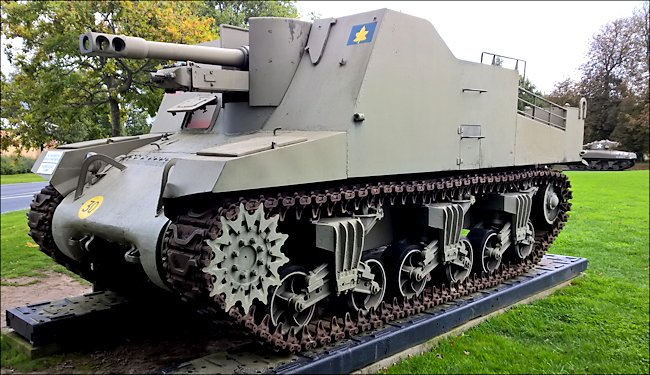 Surviving Sexton 25pdr Self-propelled Artillery Gun used in Normandy during D-Day