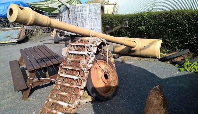 German 50 Mm Anti Tank Gun: German Panther Tank's 75mm Main Gun At The Musee D-Day
