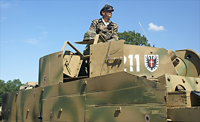 German Panzer III Ausf M tank Replica with side armour skirts