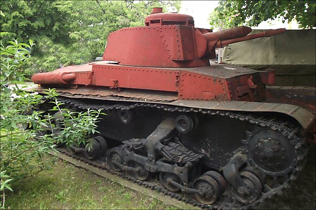 Panzer 35(t) preserved at the Bucharest Military Museum in Romania.
