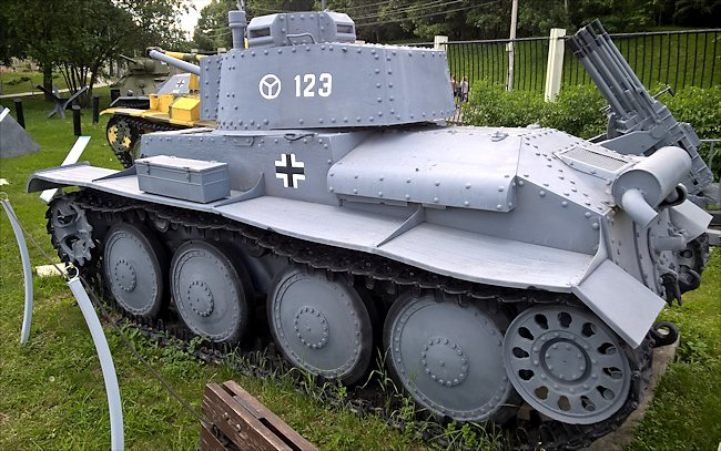 Surviving German Panzer PzKpfw 38(t) Ausf. F Light Tank