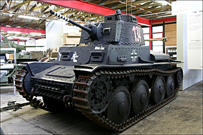 Surviving German Panzer PzKpfw 38(t) Tank