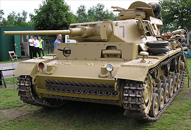 Surviving German Panzer III Ausf. J tank number 7