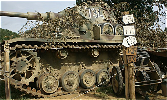 Surviving German Panzer IV tank number 734