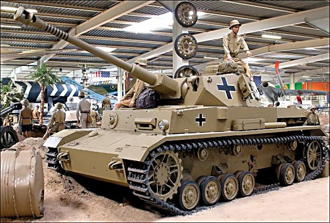 Surviving German Panzer IV tank at the Auto and Technik Museum in Sinsheim, Germany