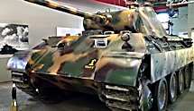 Surviving German WW2 Panther Ausf A Medium Tank at the German tank Museum