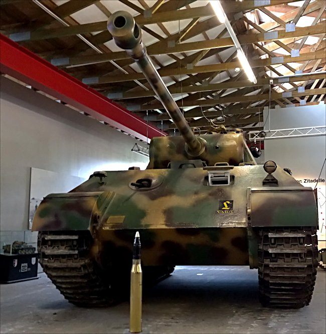 Surviving Panzer V Panther Tank at the German Tank Museum