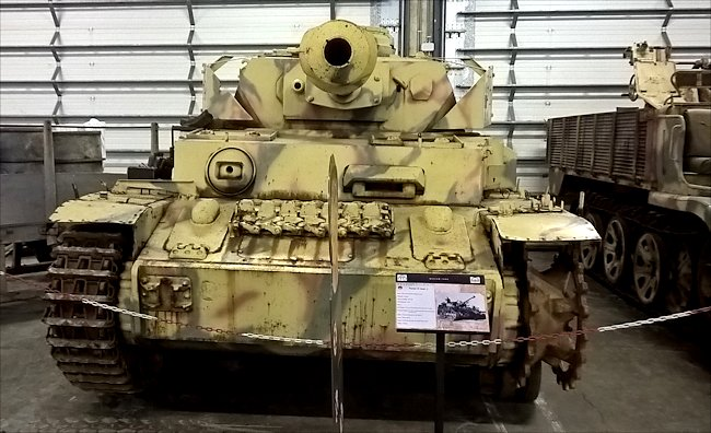 Surviving German Panzer IV Command Tank Ausf J in the Bastogne Barracks Battle of the Bulge Museum in Belgium