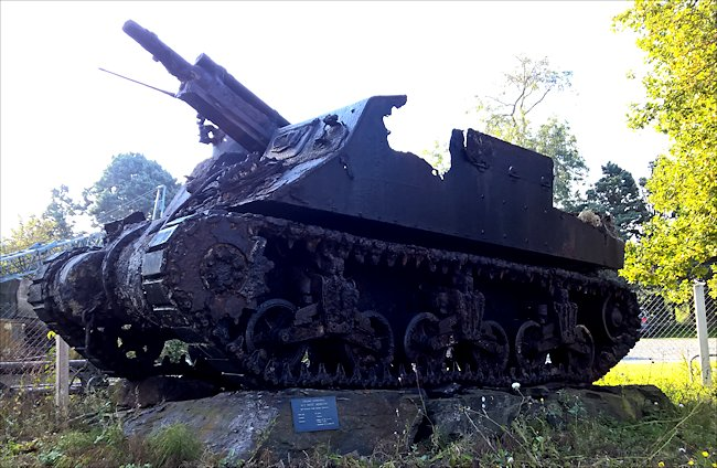 M7 Priest was damaged when it sank to the 