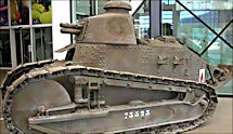 Surviving WW1 French Renault FT17 Tank in Paris