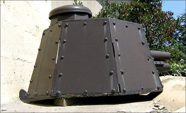 Rear view of the Renault FT tank turret used in Normandy during D-Day