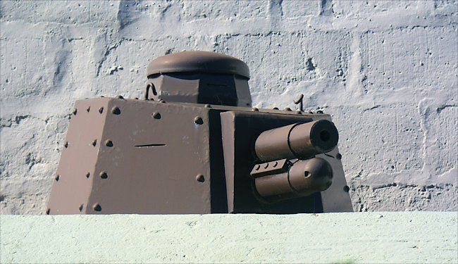 A late version of the WW1 Renault FT tank turret used in Normandy during D-Day
