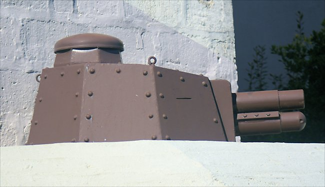 Renault FT tank turret at Le Grand Bunker Museum in Ouistreham