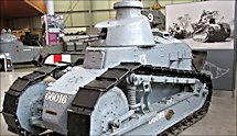 Surviving WW1 French Renault FT17 Tank in the Tank Museum, Bovington, Dorset, England