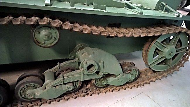 Restored Soviet WW2 T-26 tank tracks