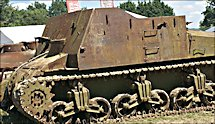 Surviving British WW2 Sexton Self Propelled Gun SPG GPO Gun Position Officer
