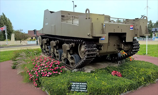 Surviving Ver-sur-Mer Sexton Tank used in Normandy during D-Day