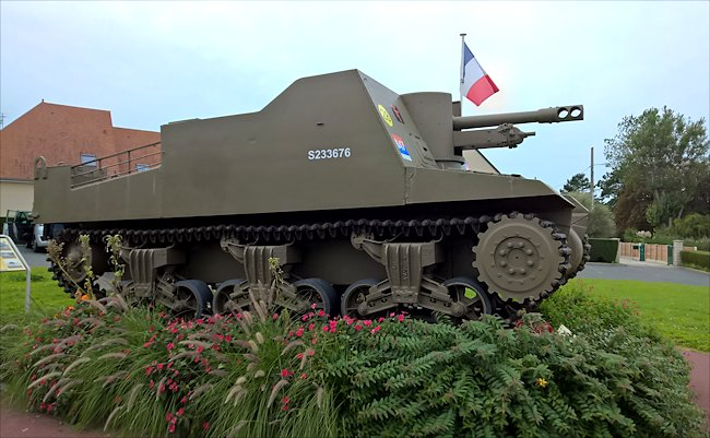 Surviving Sexton SPG used in Normandy during D-Day