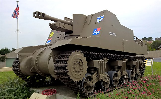 Surviving Sexton SPG used on Gold Beach Normandy during D-Day