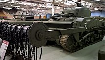 Surviving British WW2 Sherman Crab mine clearing flail Tank