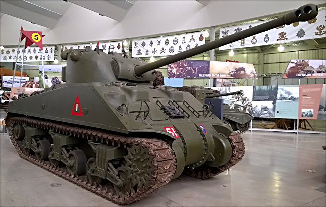 Surviving Sherman Firefly British Medium Tank at Bovington Tank Museum