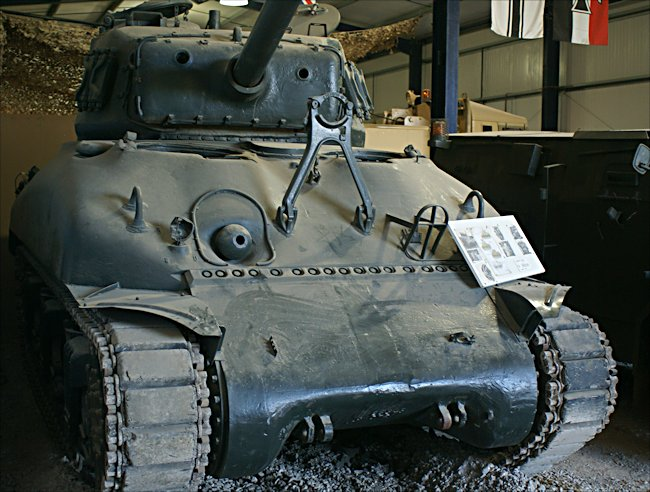 Surviving British Sherman M4A1 cast hull 76mm gun Tank