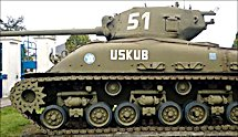 Surviving US WW2 Sherman Tank M4A1E8 76mm HVSS