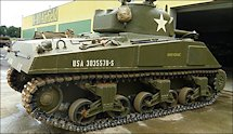 Surviving Battle of the D-Day 1944 M4A4 Sherman tank in Normandy Tank Museum Catz France
