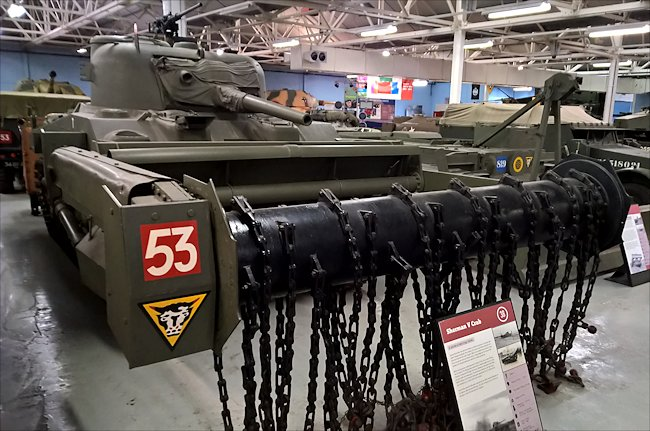 Surviving Sherman Crab Flail Mine Clearing D-Day Tank