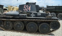 Surviving German Panzer 38(t) Tank