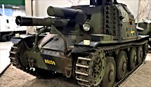 Surviving Swedish Stormartillerivagn Sav m/43
