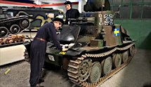Surviving Swedish m/37 tank