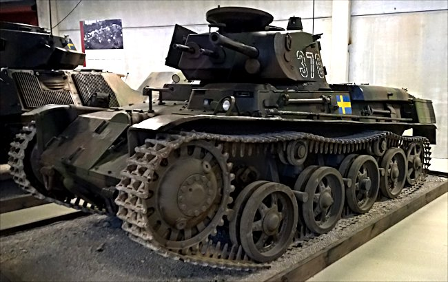 Surviving Swedish m/40 Tank