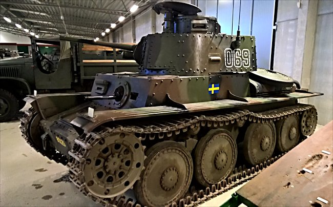 Surviving Swedish m/41 Tank