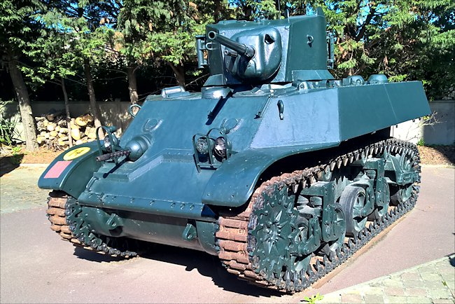 The Stuart tank was armed with a 37mm main gun