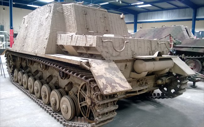 Surviving German Sturmpanzer 43 Sd.Kfz.166 Brummbär infantry support self propelled gun