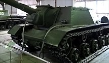 Preserved Red Army SU-152 Heavy Self Propelled Howitzer