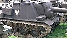 Surviving Russian Soviet ISU-152 Heavy Self Propelled Gun SPG