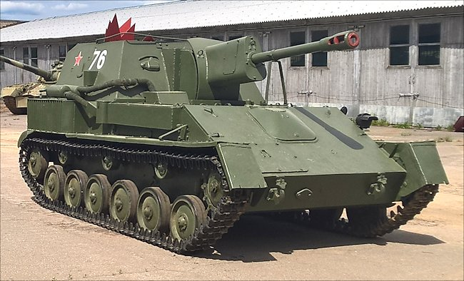 preserved SU76 Soviet 76 mm SPG