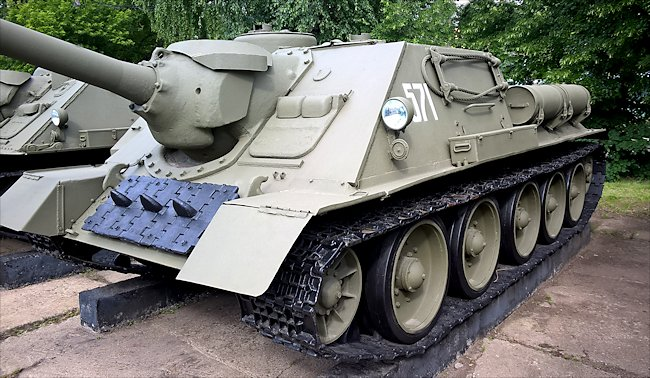 Surviving SU-100 Tank Destroyer