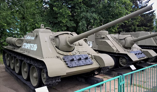 Surviving SU-85 WW2 Soviet Tank Destroyer